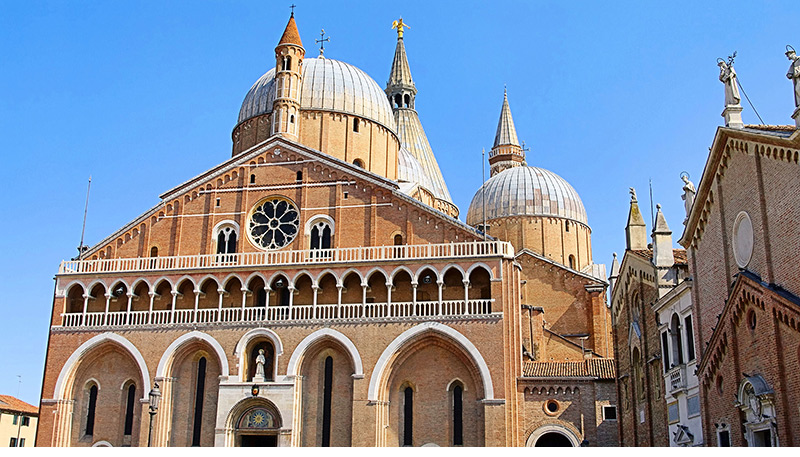 Padova: the Basilica dedicated to the patron Saint of the city, has been recognized (o acknowledged?) by the Holy See as an International Shrine, it is also one of Christendom's most celebrated and popular churches